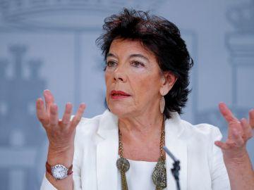 La portavoz del Gobierno en funciones, Isabel Celaá