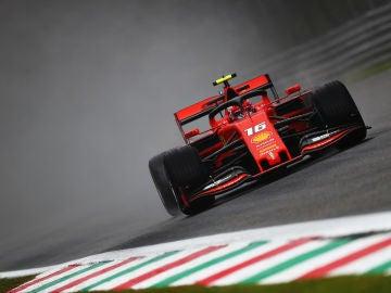 Charles Leclerc, en acción en Monza