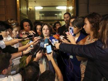 La portavoz del grupo socialista en el Congreso, Adriana Lastra