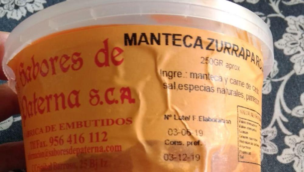 Manteca de Sabores de Paterna