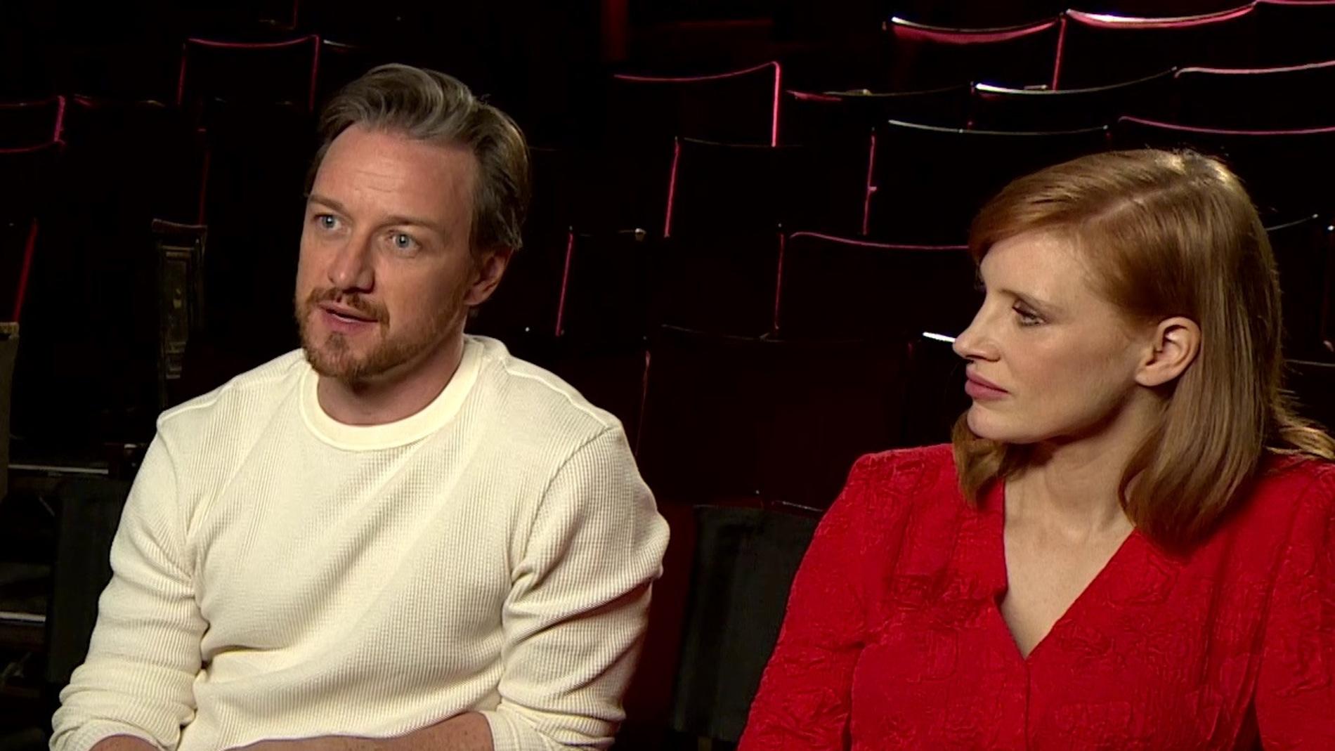 James McAvoy y Jessica Chastain, actores 'It: Capítulo 2'
