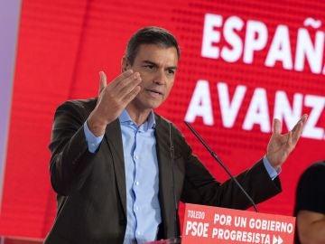 Pedro Sánchez, en Toledo.