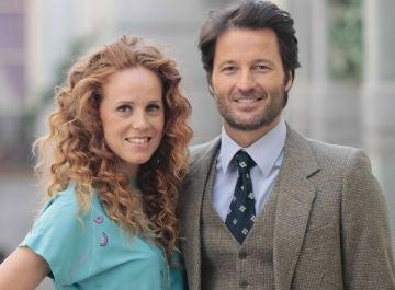 Los actores María Castro y Fernando Andina