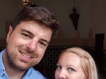 Shaun May y su mujer, Laura.