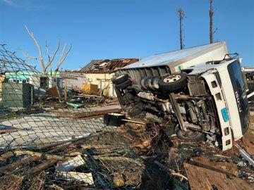 Daños materiales en Las Bahamas causados por el huracán Dorian.