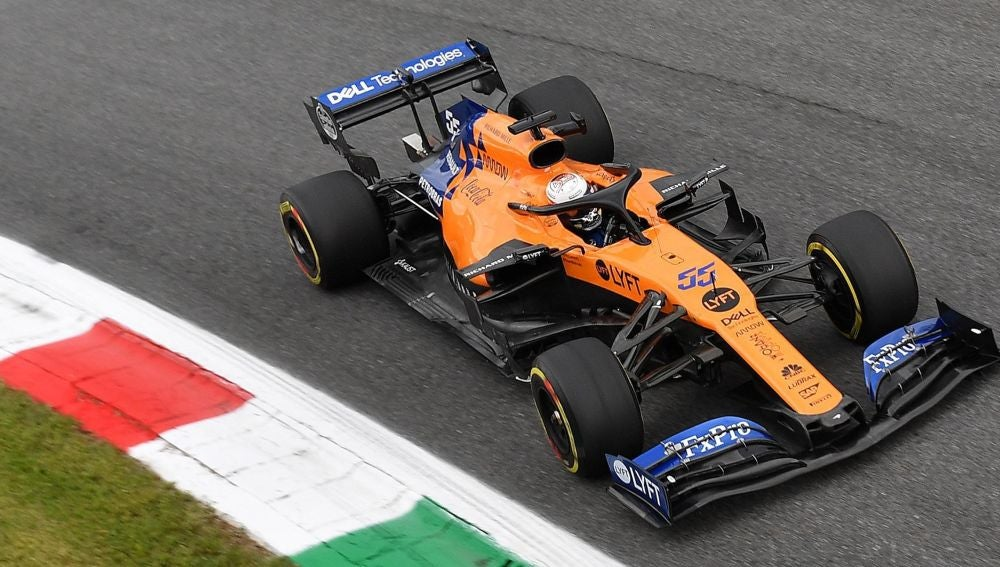 Carlos Sainz en el GP de Italia 2019