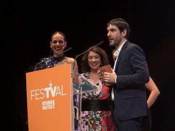 Eva González y Juanra Bonet en el FesTVal de Vitoria