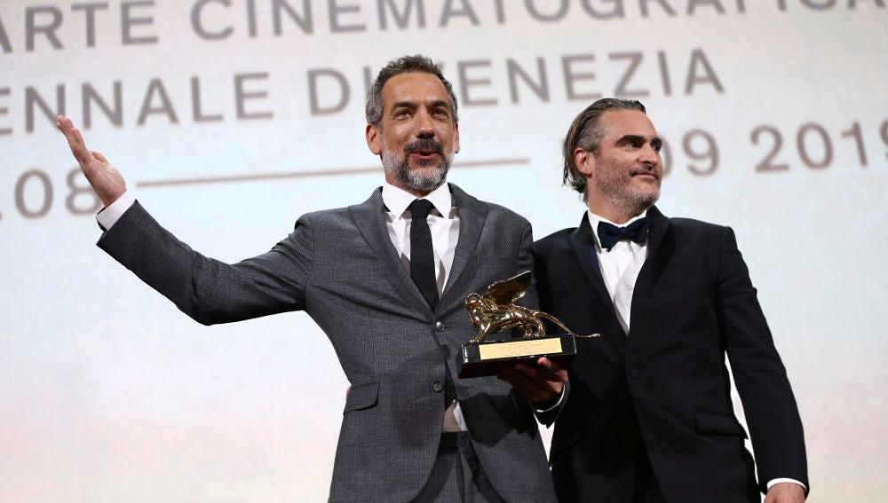 Todd Phillips y Joaquin Phoenix en el Festival de Cine de Venecia