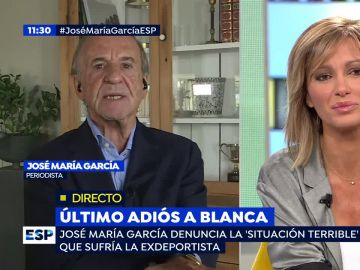El periodista José María García en una entrevista a Espejo Público