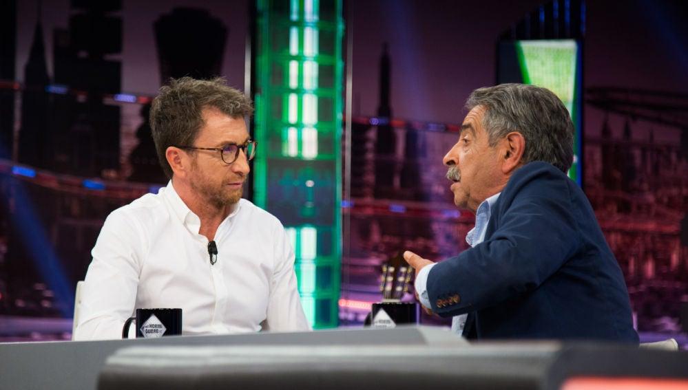 """Miguel Ángel Revilla asegura en 'El Hormiguero 3.0' que a Pedro Sánchez """"le revienta"""" tener que pactar con independentistas"""