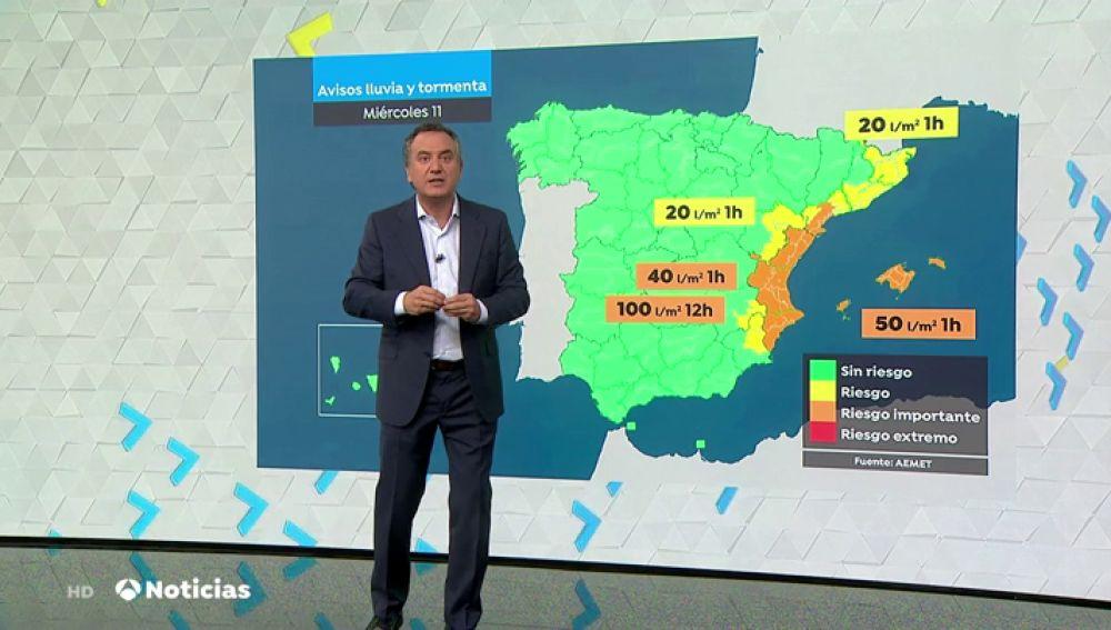 La gota fría pone en alerta a Cataluña y Baleares por lluvias torrenciales