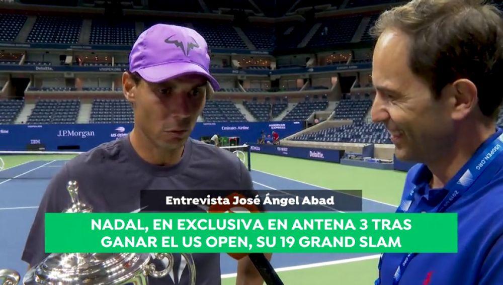 """Nadal, en exclusiva para Antena 3 Noticias: """"¿Superar a Federer? Es algo que ni me planteo, hay que disfrutar de este momento"""""""