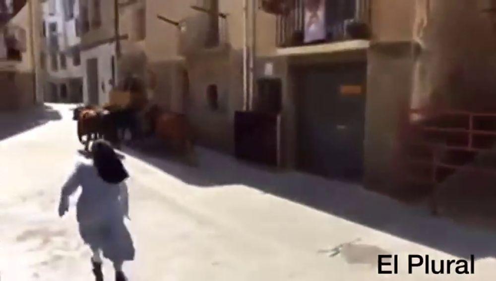 Sor Elsa, la monja que corre en los encierros junto a los toros