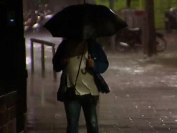 Fuertes lluvias en Cataluña