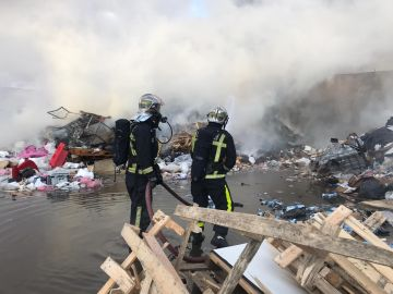 Imagen del incendio de Alcalá de Henares