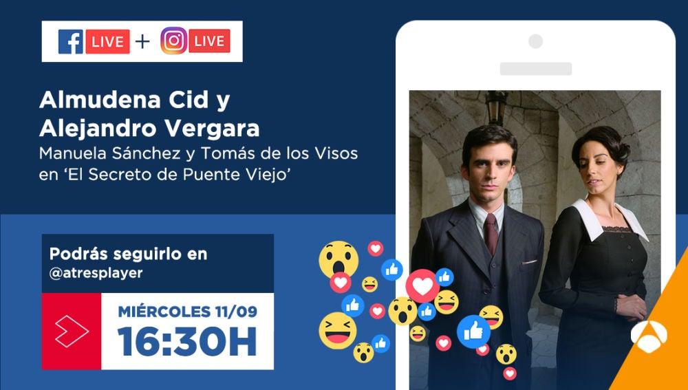 Almudena Cid y Alejandro Vergara nos contarán todos los detalles de la nueva temporada de 'El secreto de Puente Viejo'