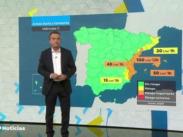 La DANA se acerca a Baleares y Comunidad Valenciana, que permanecen en alerta naranja