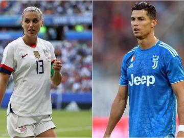 Alex Morgan y Cristiano Ronaldo