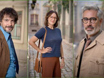 David Janer, Luz Valdenebro y Adriá Collado dan vida a Guillermo, Cristina y Emilio en 'Amar es para siempre'