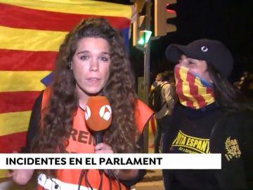 Increpan a una periodista de Antena 3 Noticias en los altercados tras la Diada