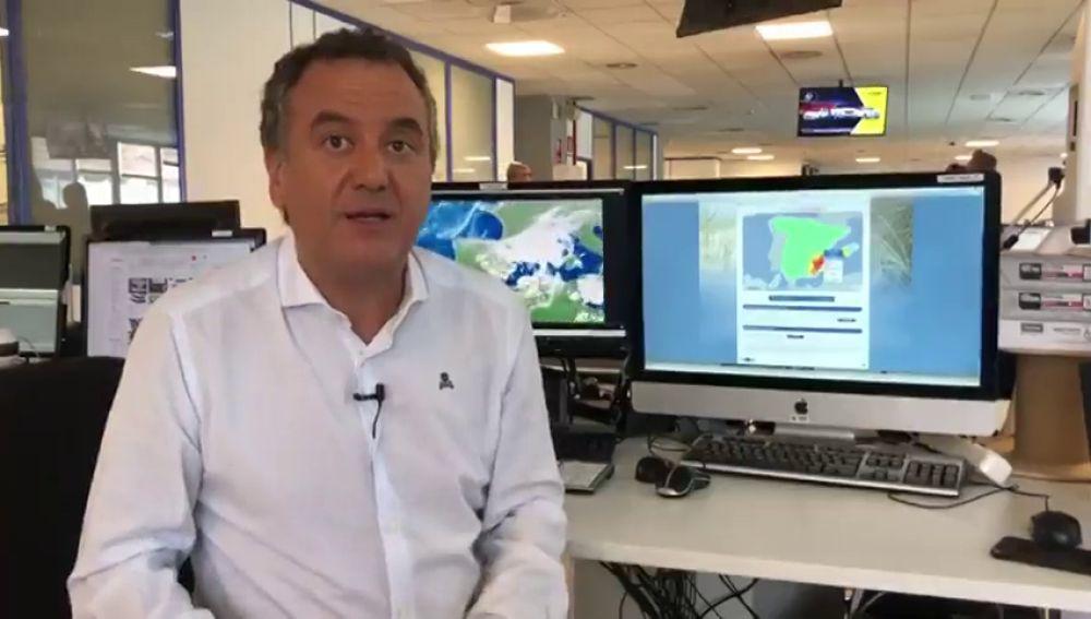 """Roberto Brasero: """"Puede que este fin de semana en Murcia llueva más que en todo el año"""""""