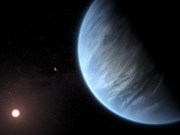 Encuentran agua en la atmosfera de un exoplaneta potencialmente habitable