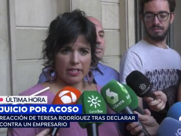 """Teresa Rodríguez tras el juicio contra Medina: """"me pareció una agresión en toda regla. Me sentí un objeto, sentí asco"""""""
