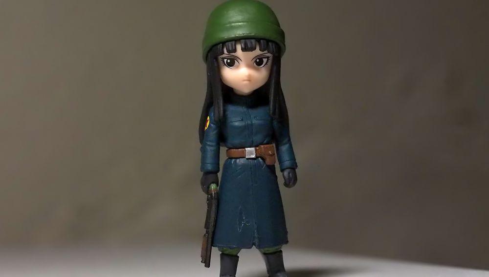 Juguete de una mujer soldado