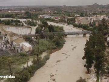 La DANA provoca la evacuación de Molina de Segura ante el desbordamiento del río