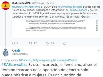 Corrección de la RAE al Ayuntamiento de Leganés