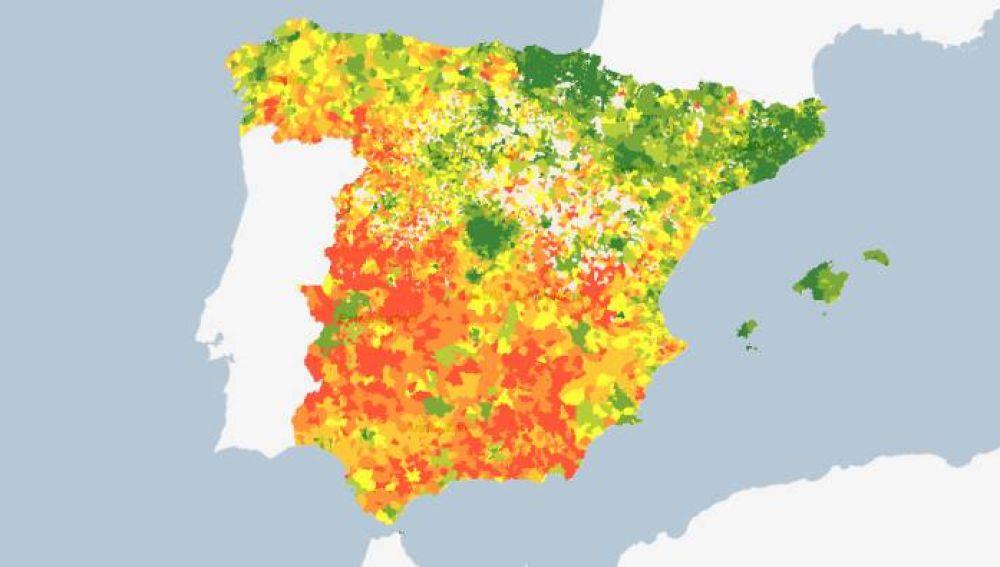 Mapa del INE