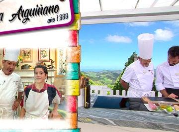 El debut de Joseba Arguiñano junto a su padre Karlos Arguiñano hace 20 años en televisión