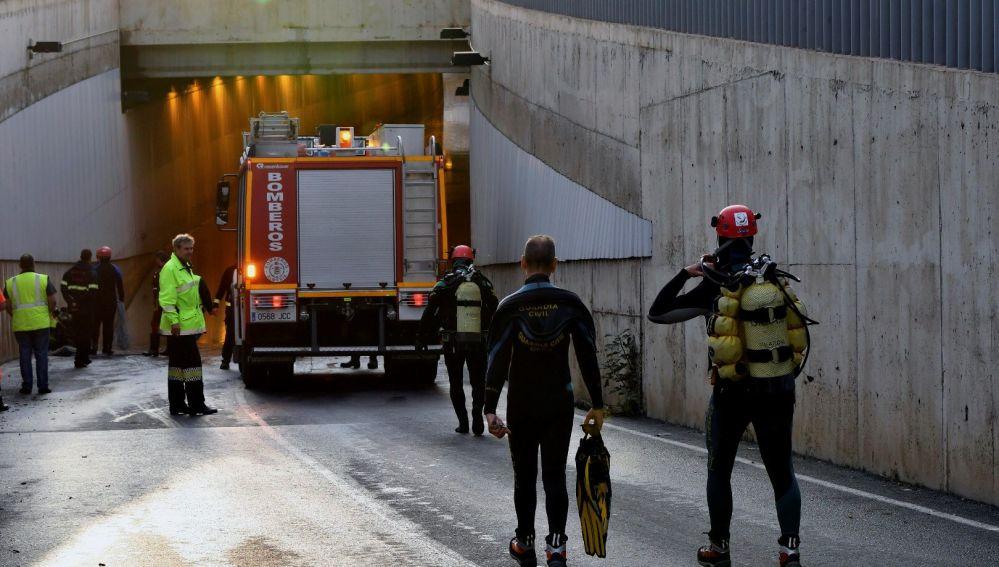 Rescate de un fallecido en Almería por las fuertes lluvias
