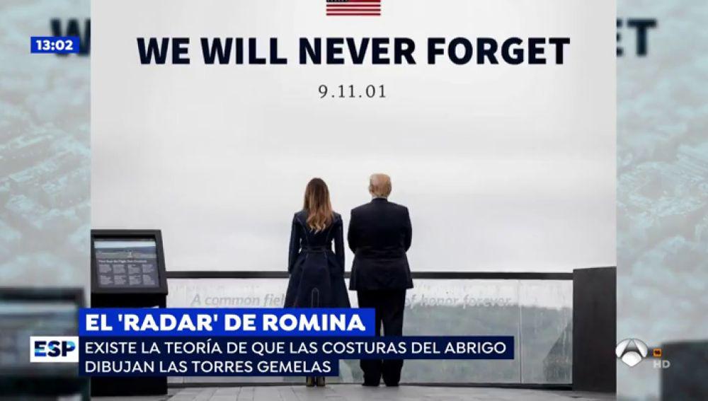 'El Radar de Romina': La polémica imagen de Melania Trump en el homenaje a las víctimas del 11-S