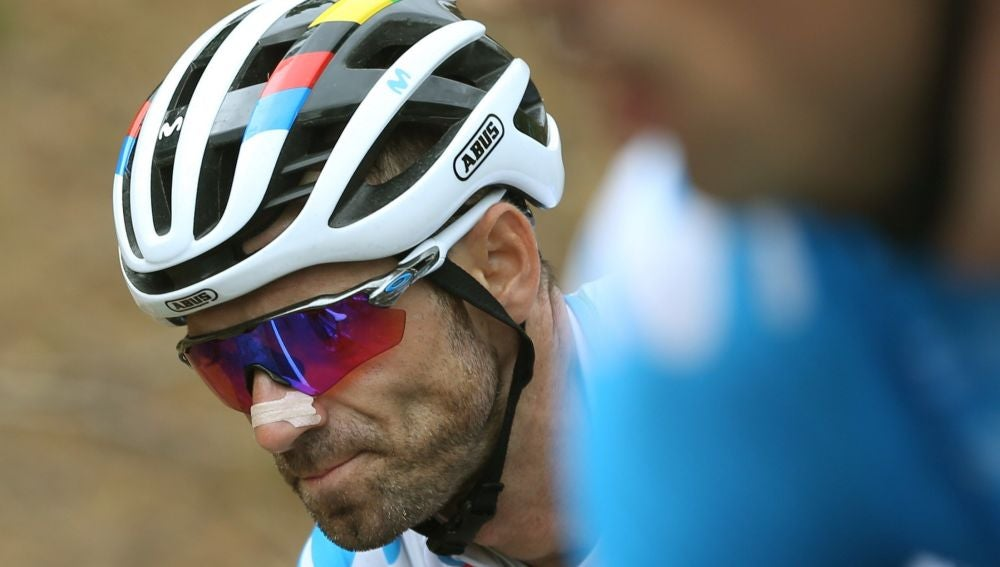 Alejandro Valverde, durante la vigésimo etapa de la Vuelta a España 2019