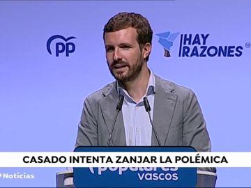 Pablo Casado visita el País Vasco en medio de la polémica con su portavoz