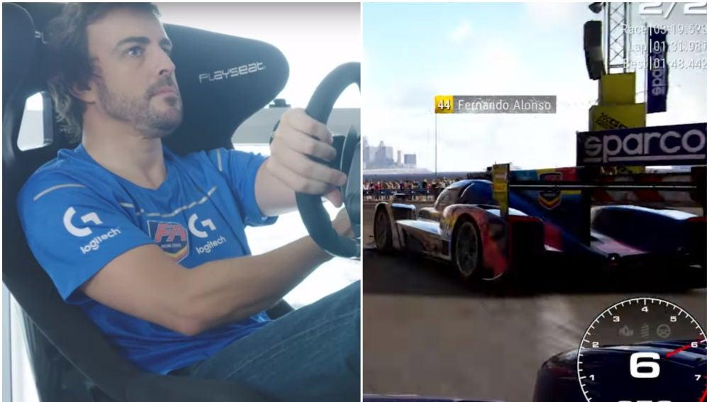 Fórmula 1: Fernando Alonso pilotando en 'Grid'