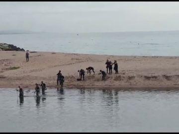Las imágenes del operativo de búsqueda del bebé arrojado por su padre al río Besòs