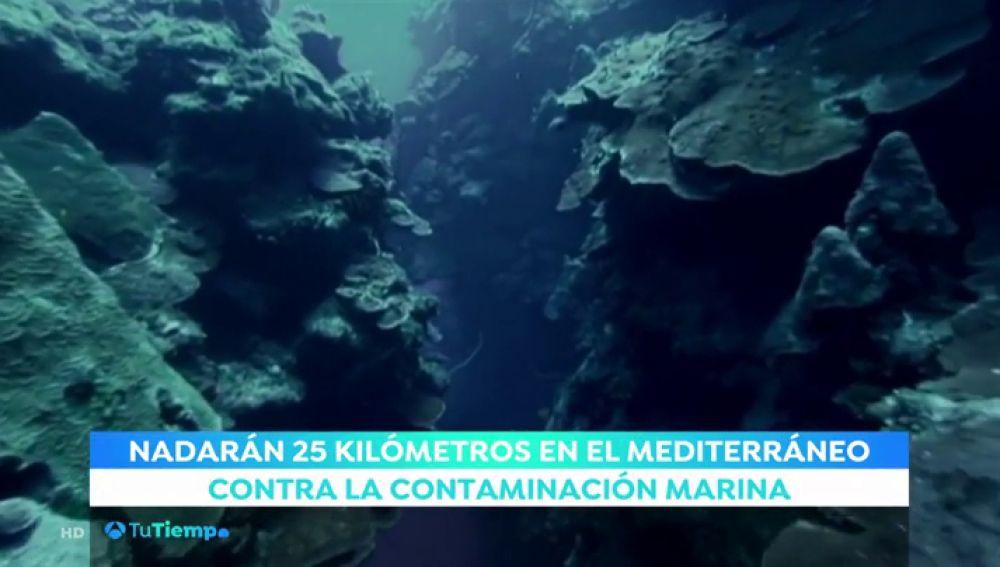 Nadar en mar abierto para concienciar de la contaminación marina