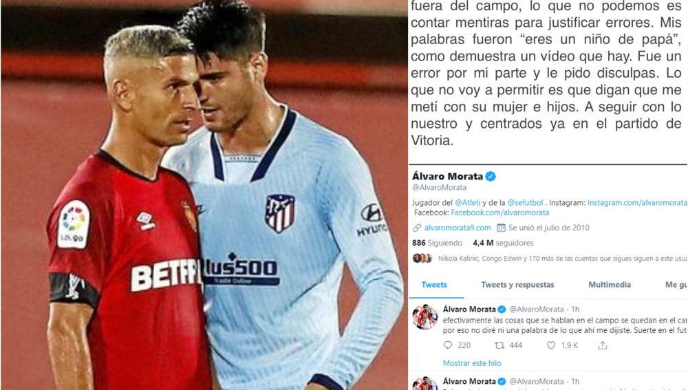 Morata responde a Salva Sevilla en Twitter