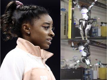 Simone Biles alucina con el robot acróbata de Boston Dynamics