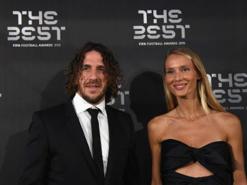 Carles Puyol en la gala The Best