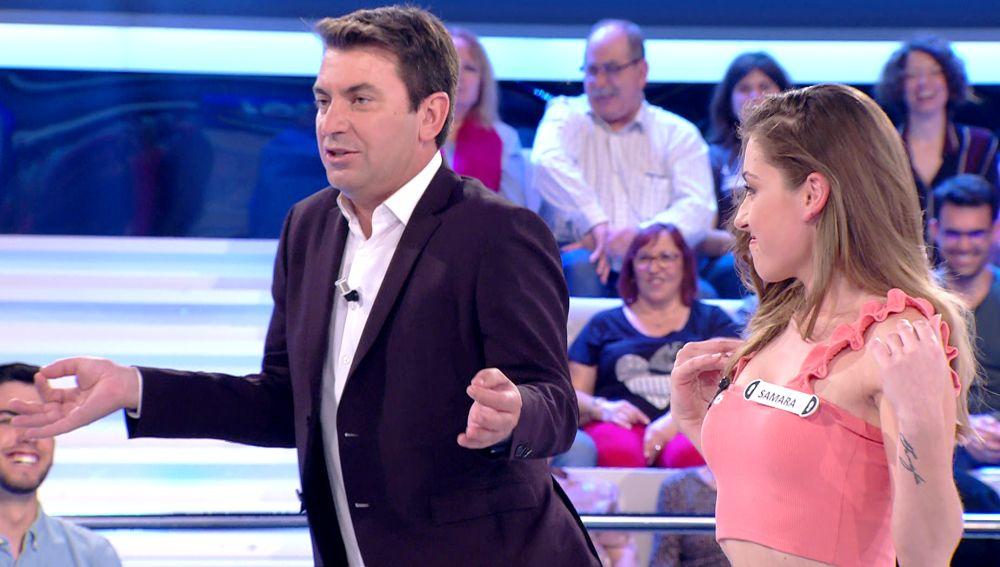 Duelo de imitar a Shakira entre Arturo Valls y la concursante central de '¡Ahora caigo!'