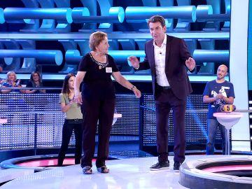 El bucle más esperado de '¡Ahora caigo!': Arturo Valls con Palmira Gogó