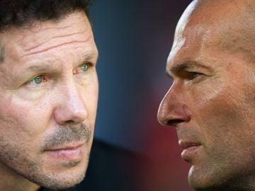 'Cholo' Simeone y Zinedine Zidane cara a cara