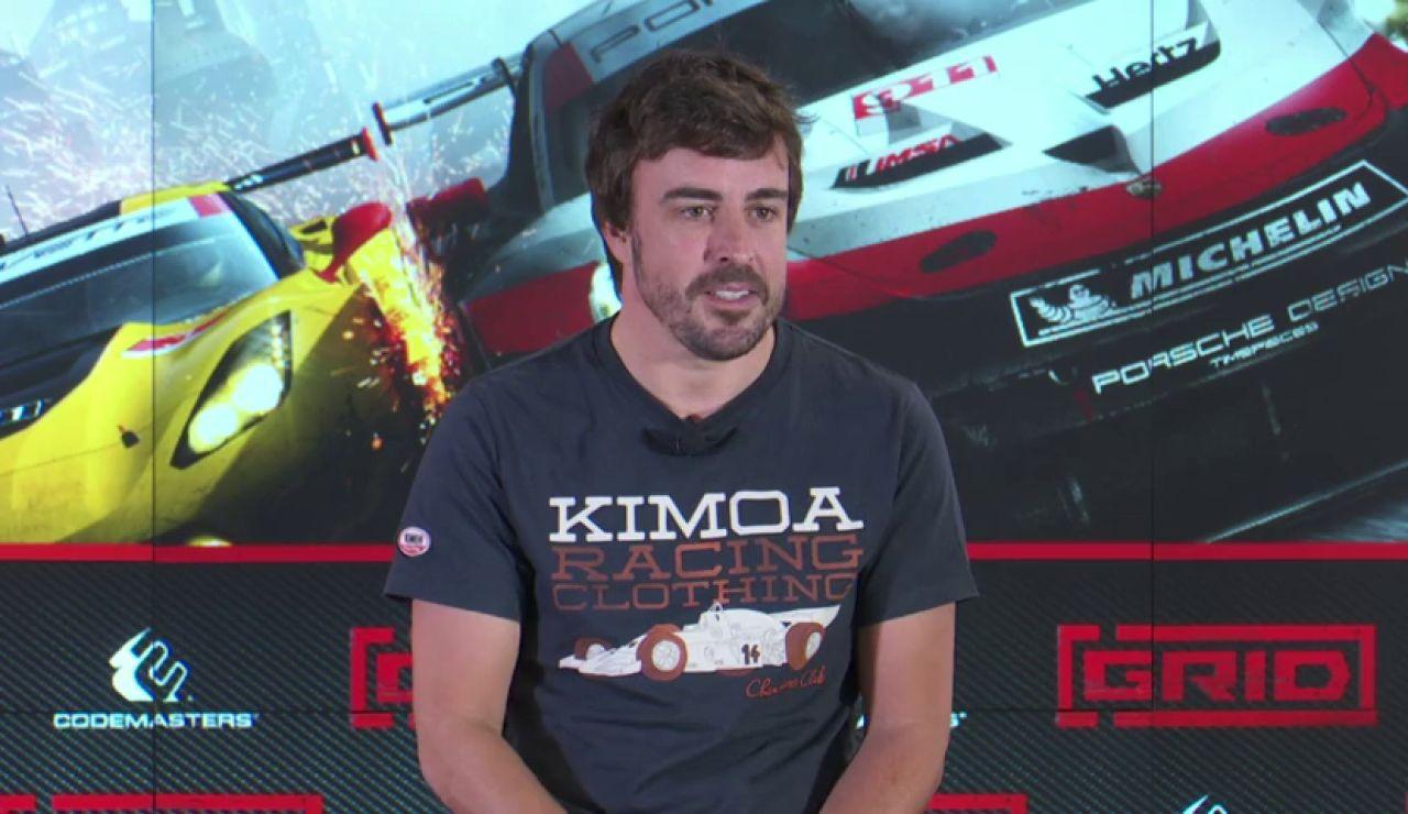 Fernando Alonso, en la presentación del videojuego Grid