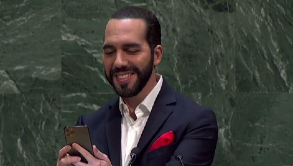 El 'selfie' de Nayib Bukele en la ONU