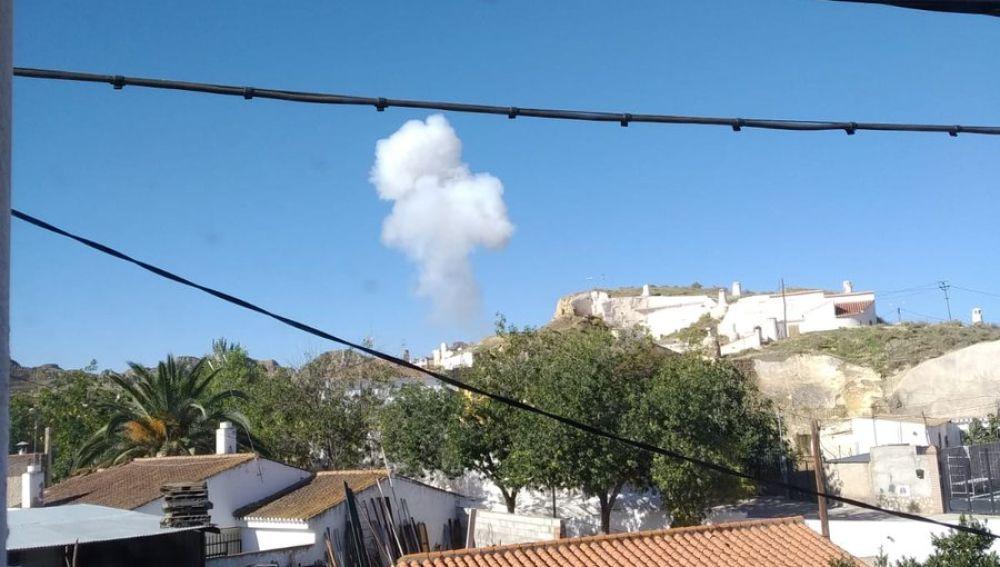 Explosión en una fábrica pirotécnica de Guadix, Granada