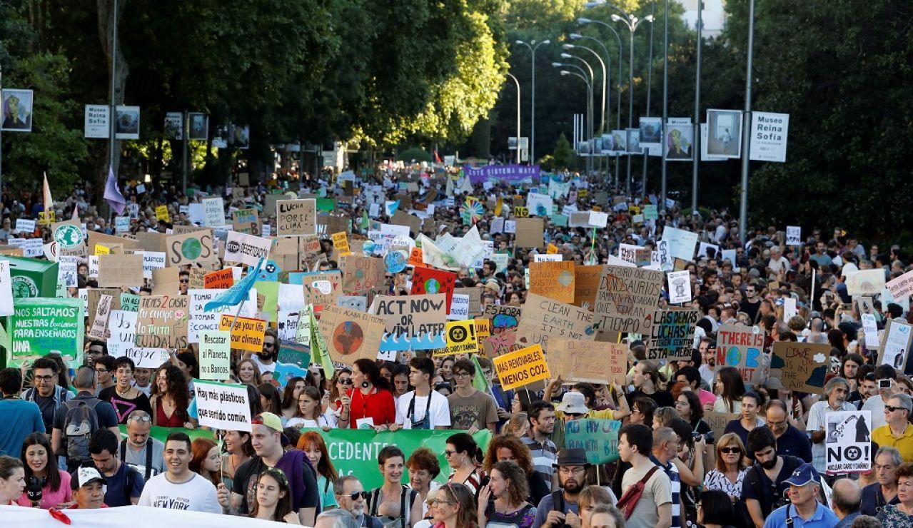 Imagen de la manifestación contra la crisis climática en Madrid