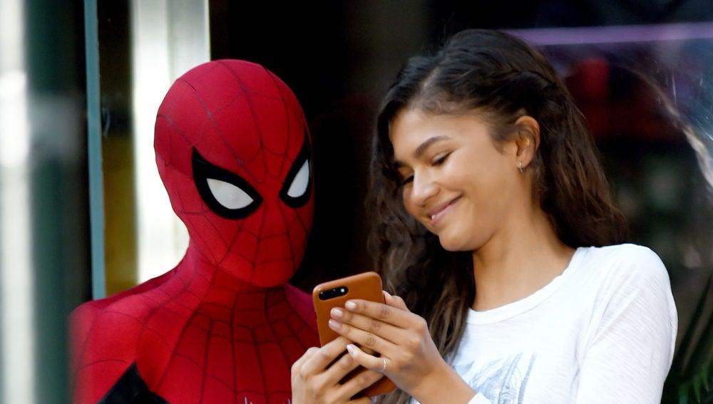 Zendaya y Tom Holland en 'Spider-Man'